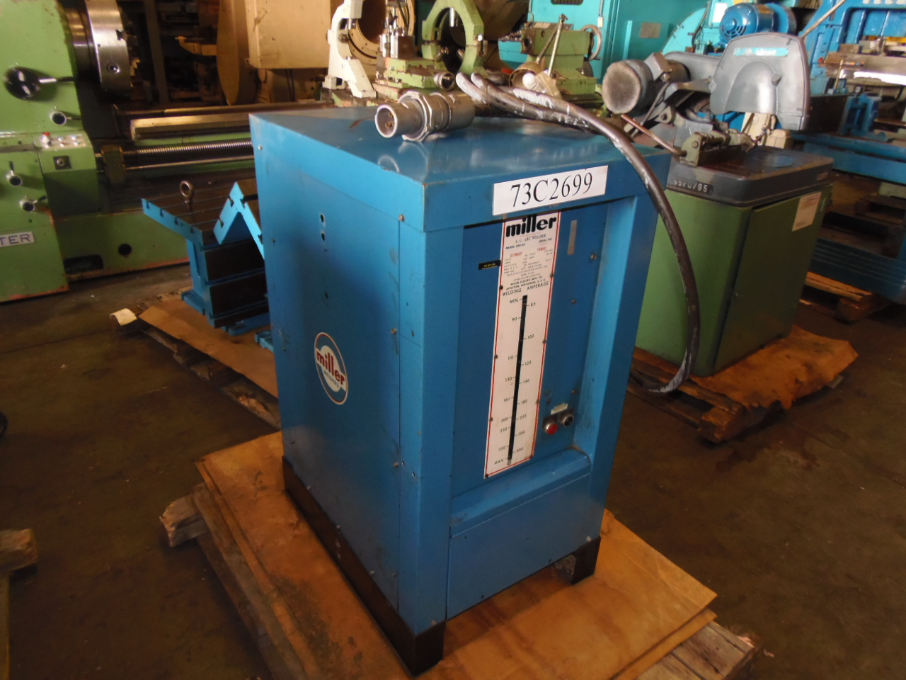 MILLER 300 AMP A.C. ARC WELDER, MODEL 300-SP