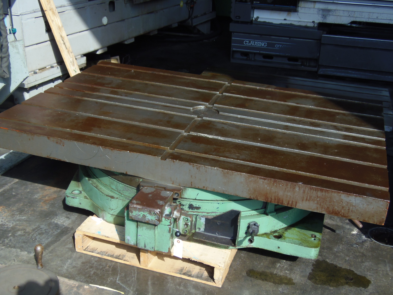 "50"" X 72"" CINCINNATI GILBERT INDEXING ROTARY TABLE, HYDRAULIC UNIT MISSING"