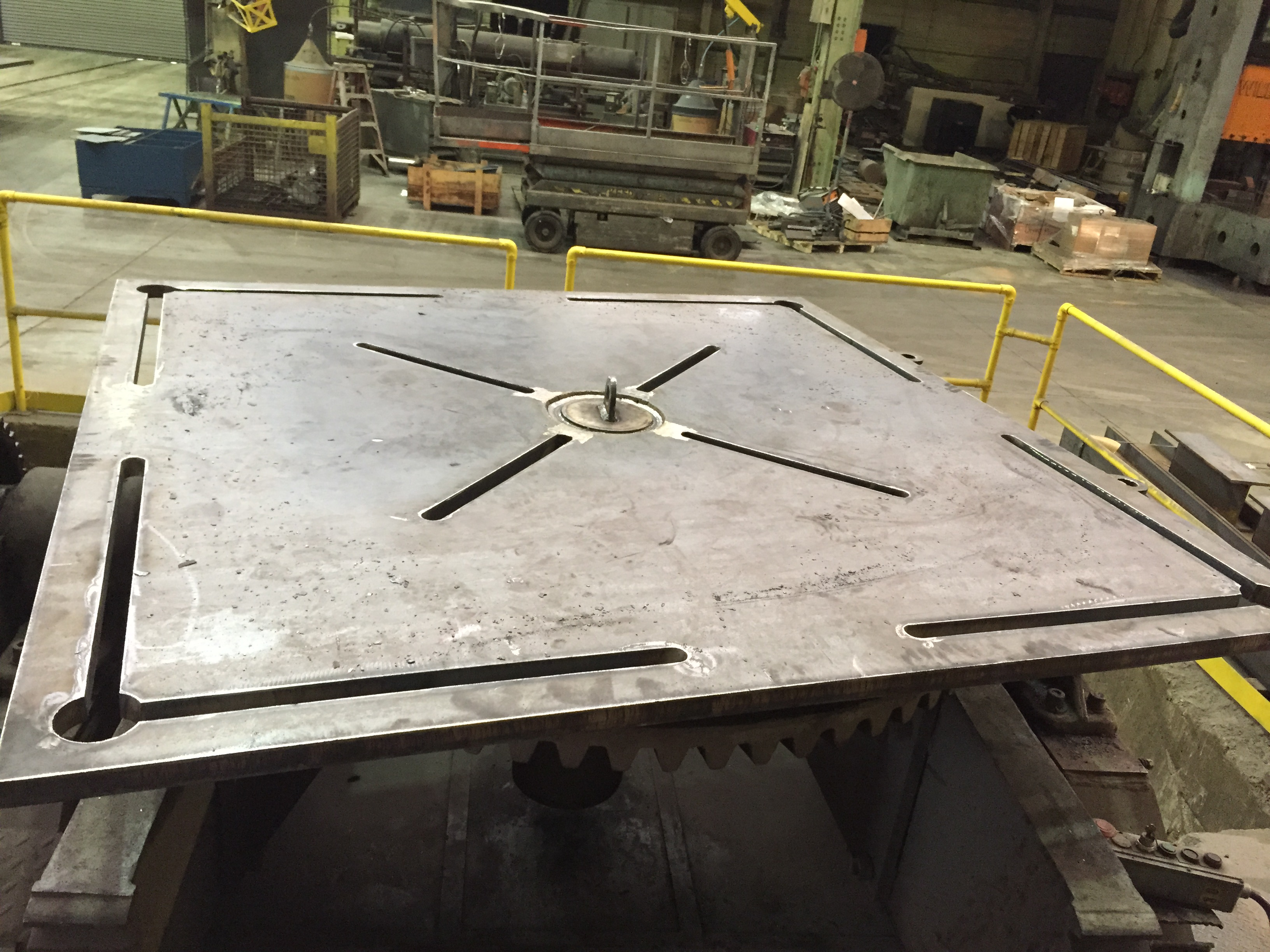 "40,000 LB. RANSOME WELDING POSITIONER, 400P, 84"" x 84"" TABLE, 135 DEGREE TILT, 360 ROTATE CW, CCW"