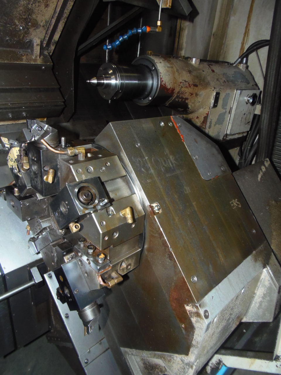 "MAZAK SQR-200, NEW 2005, 23""/11"" x 24"" CAP., TWIN TURRETS, TAILSTOCK, COOLANT, CHIP CONVEYOR, 8"" 2 JAW HYD. CHUCK"