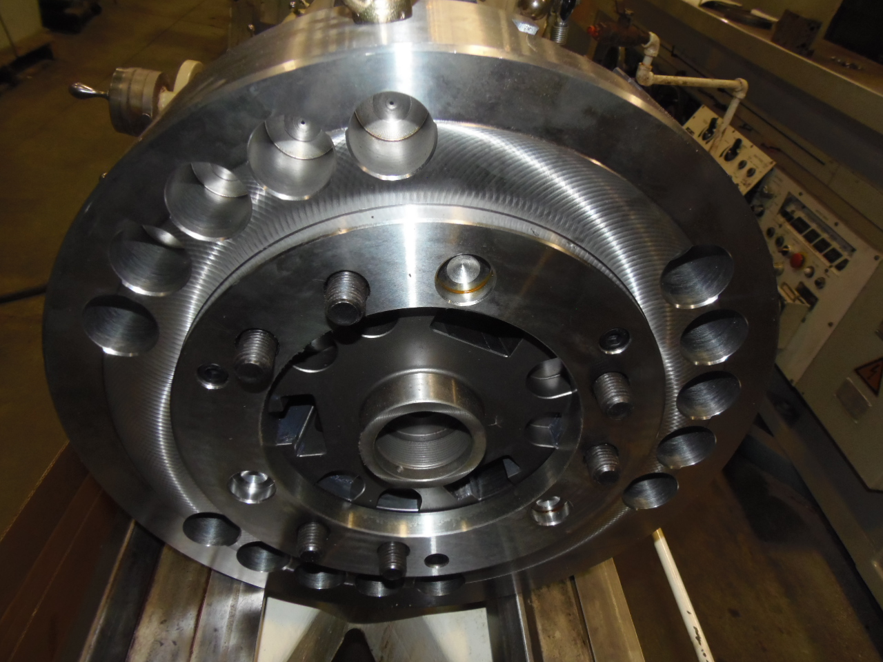 """18"""" SAMCHULLY 3 JAW HYDRAULIC POWER CHUCK, MODEL HC-18, UNUSED"""