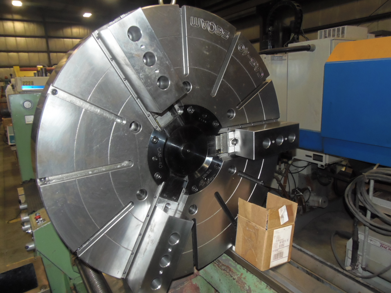 "40"" SEOAM CAS-40, UNUSED 3 JAW HYDRAULIC POWER CHUCK"