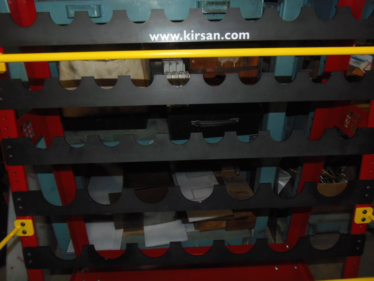 KIRSAN TOOLING RACK, WHEELS, 50 CAT 40, 28 CAT 50, UNUSED