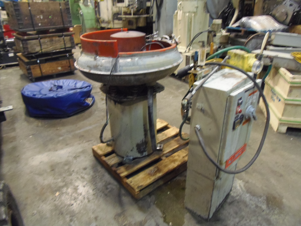 2.5 CU FT. ALMCO VIBRATORY FINISHER BOWL TYPE, MODEL OR3, 1995