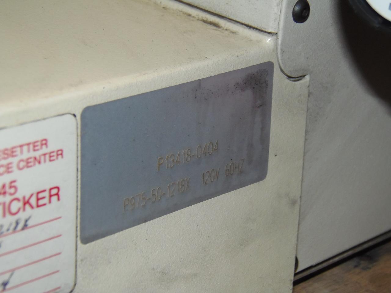 PARLEC TOOL PRESETTER, MODEL P975-50-1218X, 50 TAPER, MANUALS, NO COMPUTER, 2004