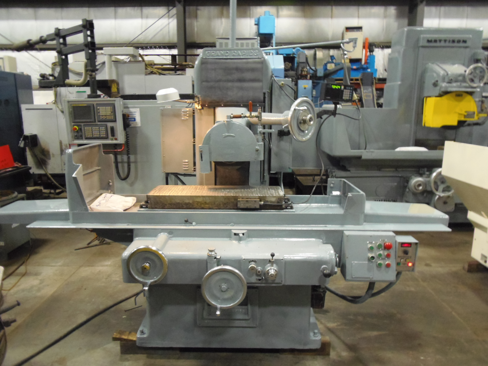 "12"" x 36"" GALLMEYER & LIVINGSTON, GRAND RAPIDS, MODEL 550, MAGNETIC CHUCK WITH DEMAG, COOLANT, SONY DRO, 1971"
