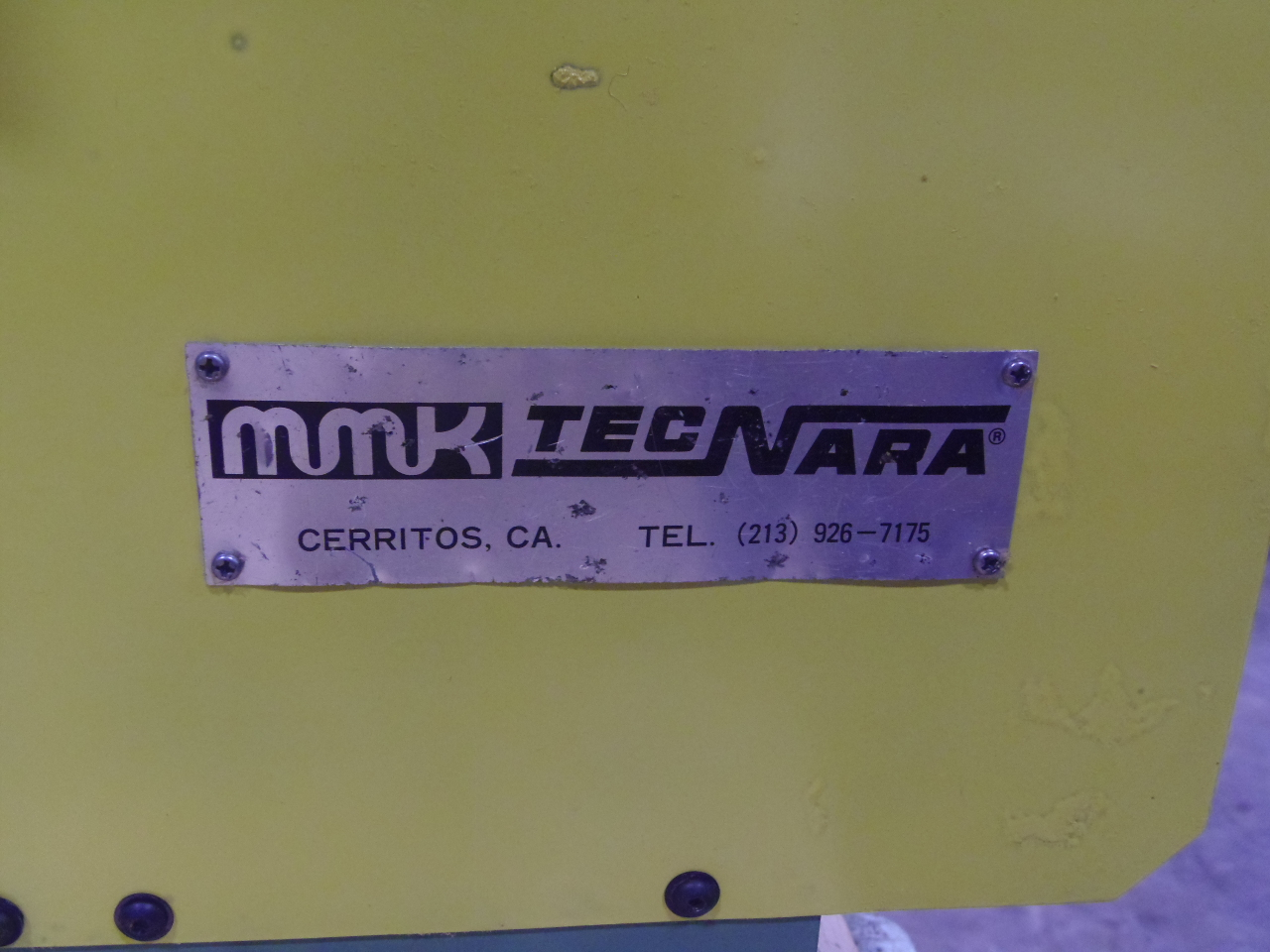 "12"" MMK TECNARA ROTARY INDEX TABLE, 300 MM, 4.5"" HOLE, MODEL MMK-300, TAILSTOCK, CABLES"