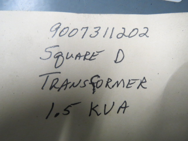 Square D Used Transformer, 1.5KVA, 240/480 V High; Second 120/240
