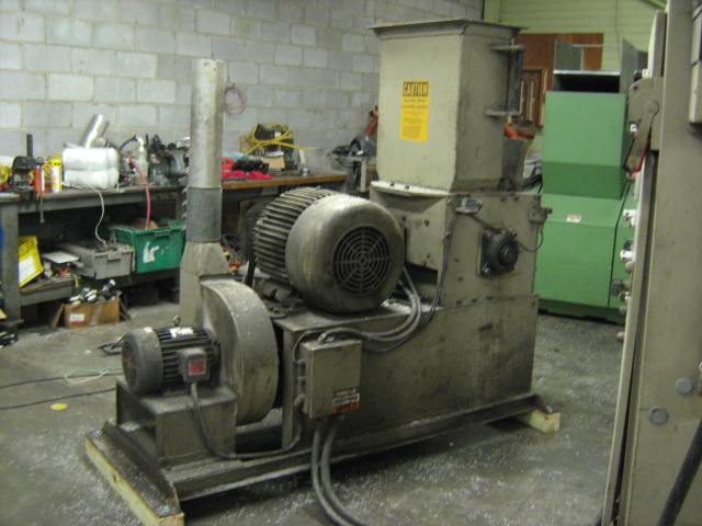 "Hydraclaim Granulator for Blown Film, 10 x 20"", 40 hp, 460V"