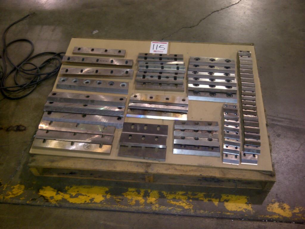 Pallet lot of various Granulator Blades