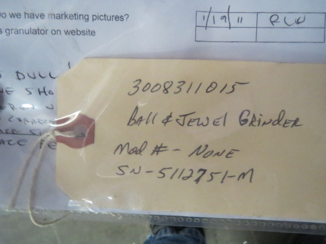 "Ball & Jewell Used Granulator, 8.75 x 11.75"", 10hp, 460V"