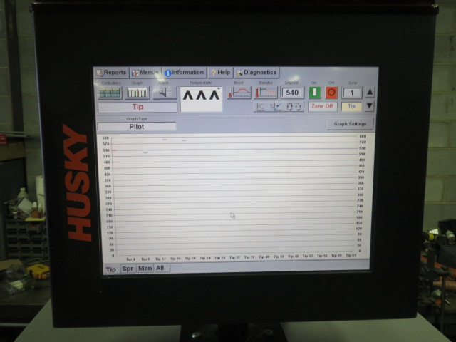 Gammaflux TTC 2100 Used Hot Runner Controller, Yr. 2007, 24 Zone, 240V