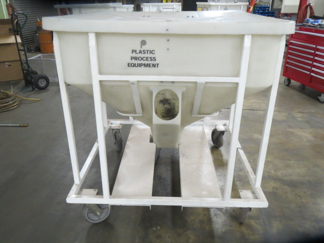 Plastic Process Equipment Material Bin, 800lbs. Capacity