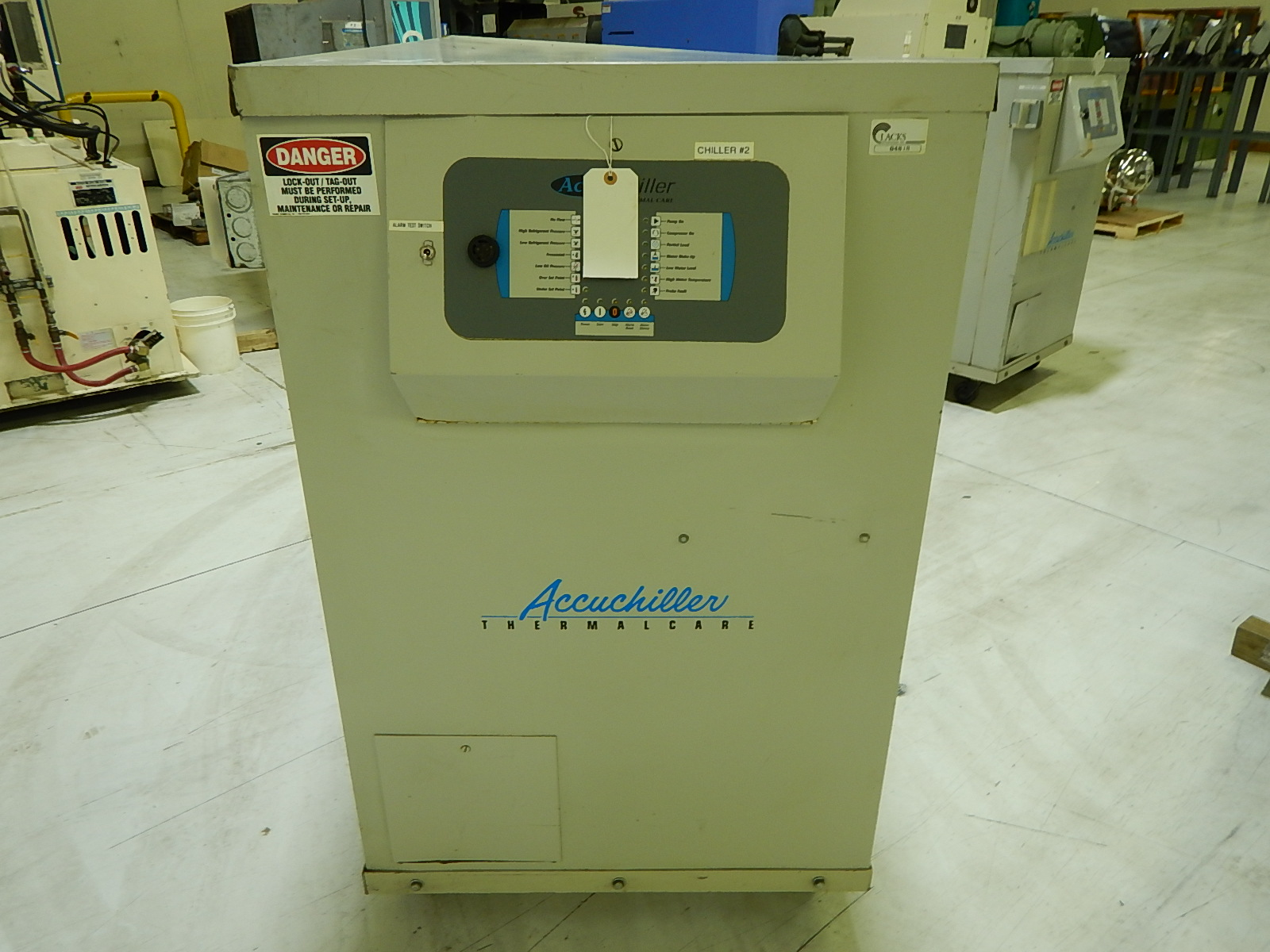 Thermal Care AQ1W1504 Used Water Cooled Chiller, 15 ton, 3hp pump, 460V