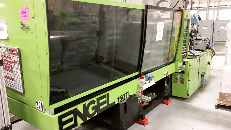 Engel ES1050H 200H 150 TL Two Material Used Injection Molding Machine, 150 ton, Yr. 1999, 19.7oz/2.2oz