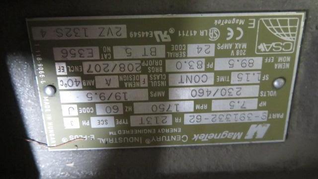 """Ball & Jewel Maverick MVP1012 Used Granulator, 12""""x12"""", 7.5hp, 460V"""