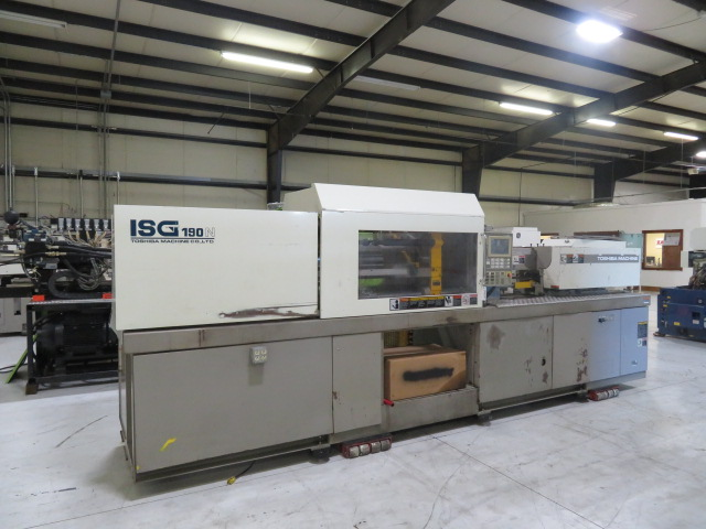 Toshiba ISG190NV10-10 Used Injection Molding Machine, 190 US ton, Yr. 2000, 19 oz.
