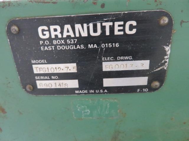 """Granutec TFG1012.7.5 Used Granulator, 11.5"""" x 11.5"""", 7.5hp, 460V"""