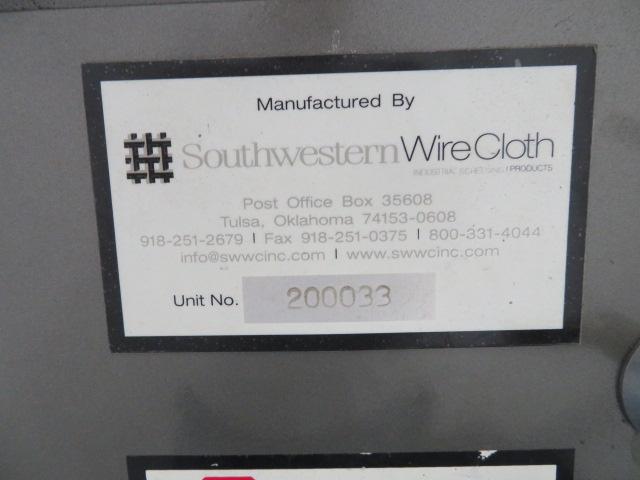 Southwestern Vibrecon Used Shaker Classifier Separator Screen, 460V