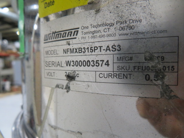 Wittmann Feedmax B315 Dual Material Used Vacuum Receiver, Approx 1 cu ft, 24V