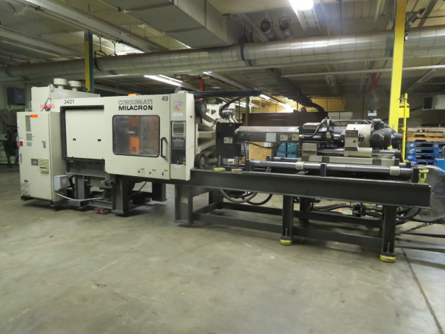 Cincinnati MH400-21 Used Injection Molding Machine, 400 US ton, Yr. 1997, 21 oz.