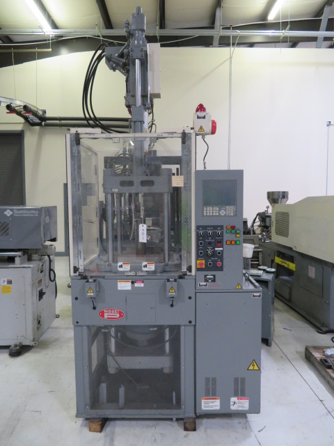 Nissei TH40-2VSE Used Vertical Injection Molding Machine, 40 US ton, Yr. 1999