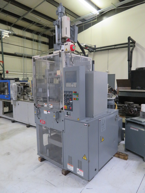 Nissei TH40-2VSE Used Vertical Injection Molding Machine, 40 US ton, Yr. 1999, .04 oz.