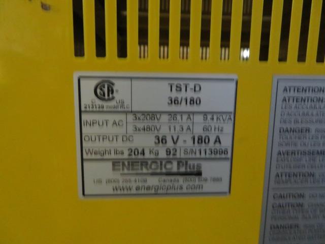 Energic Plus Battery Charger, Model TST-D  36/180, 208 or 480V