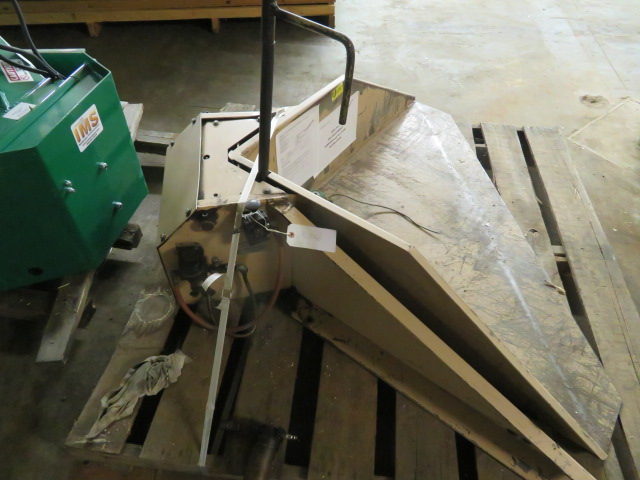 Plastic Process Equipment Used Pneumatic Box Tilter, 1500 lbs. Capacity