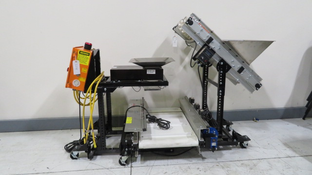 EMI Used ATLC 12-3-20 Weigh Hopper System with Inclined and Horizontal Conveyors, Yr. 2016, 110V