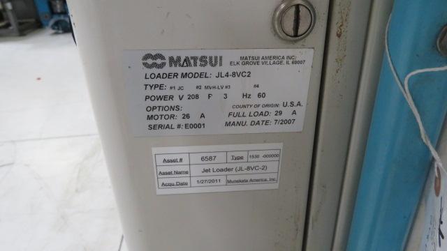 Matsui Used JL4-8VC2 Dual Port Jet Loader, 10hp, 208V, Yr. 2007