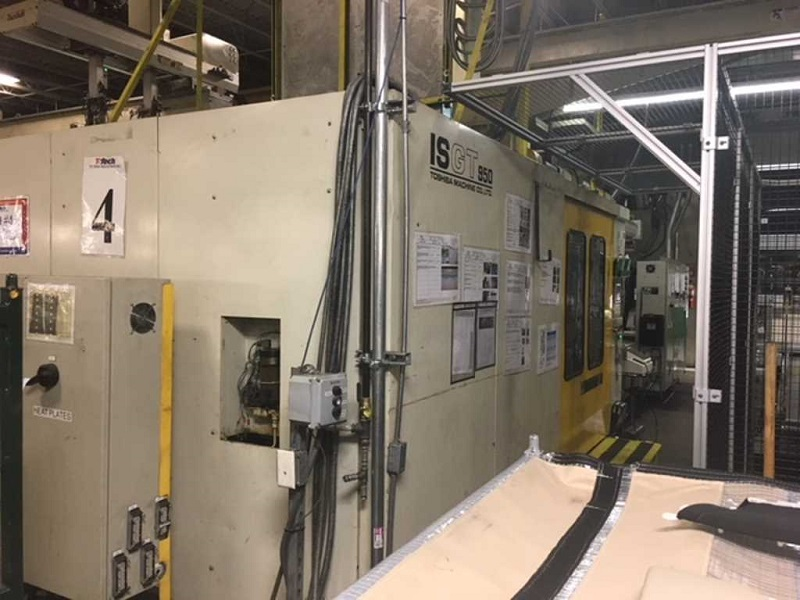 Toshiba ISGT 950WV10-81AM Used Injection Molding Machine, 950 US ton, Yr. 1998