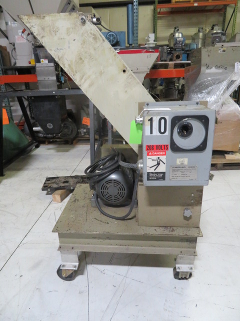 "Cumberland Used 12"" x 12"" Granulator, 5hp, 208V, press side with runner chute"