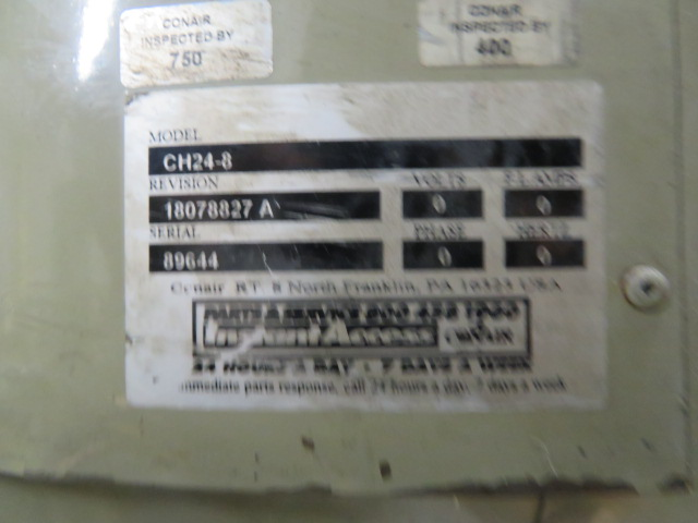 Conair CH24-8 Used Drying Hopper,280 lb capacity