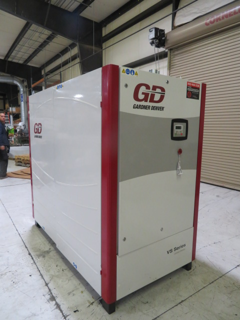 Gardner Denver VS45-70A Used Rotary Screw Air Compressor, 96 hp, 460V, Yr. 2011
