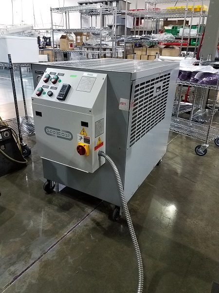 Mokon Used 311-126 Two (2) Ton Air Cooled Portable Chiller and Temperature Controller, 230V