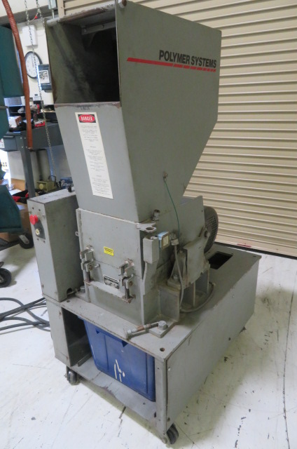"Polymer Systems Used 912 SPL Granulator, 9"" x 12"", 7.5hp, 460V, Yr. 1998"