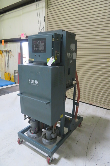 Dri-Air Used ARID-X 50PD Material Dryer and M24 160 lb. Drying Hopper, Desiccant, Approx. 50lb/hr, 480V