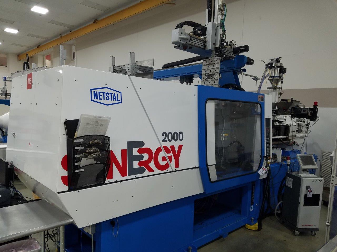Netstal Used S-2000-999 Injection Molding Machine, 220 US ton, Yr. 2002