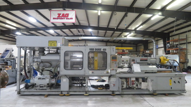 Van Dorn Used 400 HP 20 Injection Molding Machine, 400 US ton, Yr. 1997, 20 oz.