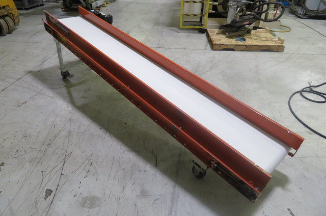 "EMI Used RM-18-10-40 Horizontal Single Speed Conveyor, 17"" belt width x 117"" long, 115V"