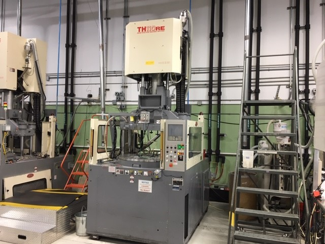 Nissei Used TH110RE-12VE Vertical Injection Molding Machine, 110 US ton, Yr. 2005, 3.4 oz.