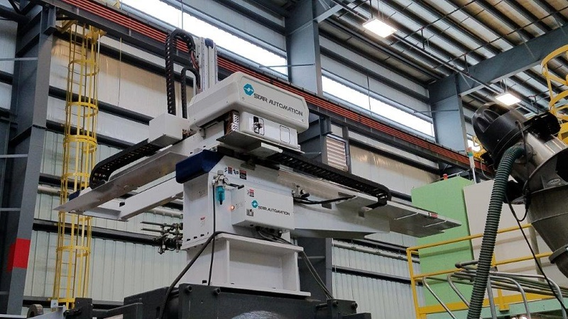 Star Automation Used TW-1500VI-480 Full Servo Robot, 650-1350 ton, Yr. 2016