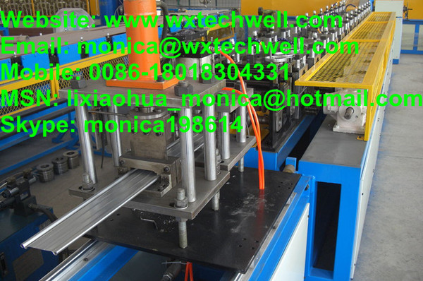 Pl511069 5 5kw and 14 stations hydraulic shutter slat rollformer pu sandwich panel machine
