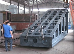 Esco cast iron angle plate 3000mm x 2000mm x 2000mm