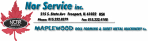 Nor Service Inc. | Maplewood Roll Forming & Sheet Metal Machinery Co.