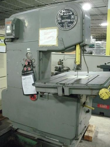Doall model zephyr 36in vertical bandsaw