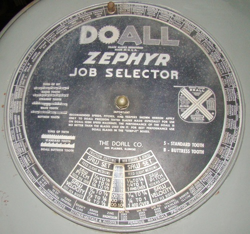 Doall model zephyr 36in vertical bandsaw4