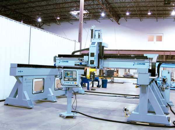 Dms 5 axis large format overhead gantry cnc router