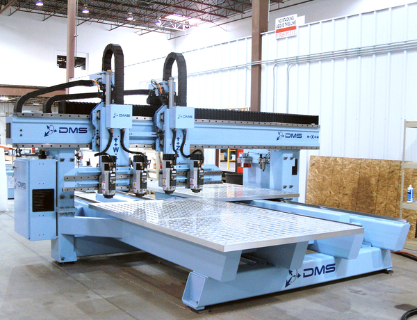 Dms dms 3 axis twin tables cnc with twin heads